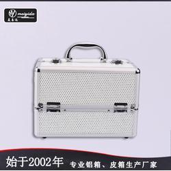 美易达高品质韩国手提双开铝合金手提化妆箱图片
