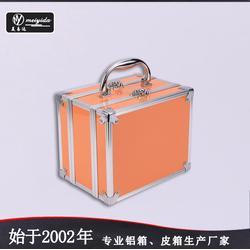 美易达外贸品质化妆箱 韩版铝合金化妆箱 专业大容量带镜子化妆箱图片