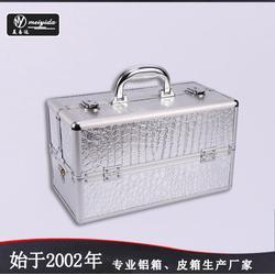 美易达厂家直销高品质PU皮化妆首饰箱 手提坚固大容纳多层化妆箱图片
