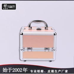 美易达韩国手提小号化妆箱 专业化妆品收纳盒 多层大容量带锁箱子便携图片