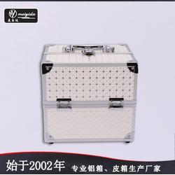 美易達源頭產地手提化妝箱 白色簡約風收納箱 大容量跟妝化妝箱廠家定做圖片