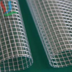Tarpaulin环保欧标REACH不含6P合成革人造革夹网方格夹网3*3现货图片