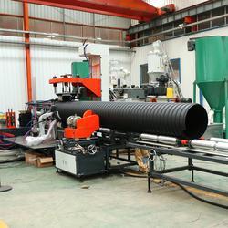 圣大管业800地下排水管钢带增强pe螺旋波纹管厂家现货图片