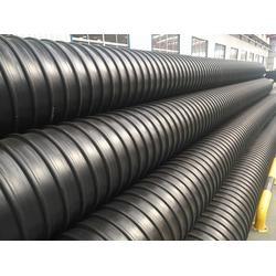 市政波纹排污管 圣大管业供应 钢带增强HDPE聚乙烯螺旋波纹管图片