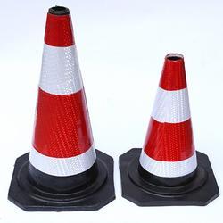 70cm高橡胶路锥厂家道路反光圆锥施工警示路桩库存充足图片