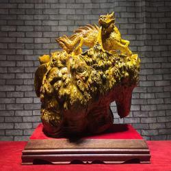 嘉匠根艺黄金樟龙龟-动物根雕-办公室工艺品-实木雕刻金龙鱼花鸟摆件图片