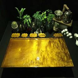 嘉匠根艺金丝楠木茶盘-金丝楠木根雕茶几-实木原木茶盘-黄金樟茶盘图片