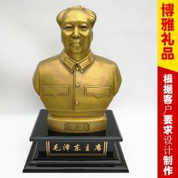 主席半身铜像 纯铜铜像 雕塑摆件 办公桌摆件图片