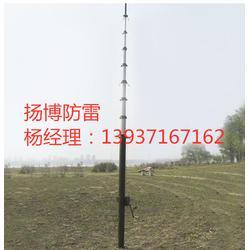 碳纤维轻型升降杆避雷针 军用卡车便携式升降杆 扬博监控照明伸缩桅杆图片