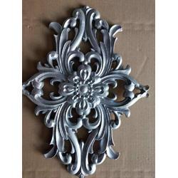 2018年受欢迎的铝艺沙铸件门板花菱形门花图片