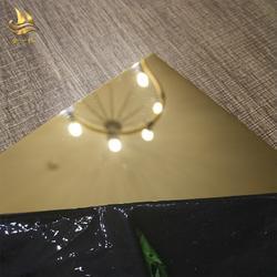 镜面黄钛金不锈钢板 拉丝黑钛金 304镜面黑钛金不锈钢板图片