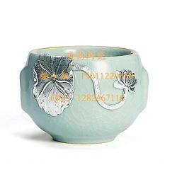 高档陶瓷餐具定做-茶叶罐-大花瓶-陶瓷定做-陶瓷茶具-鎏金茶杯-纪念盘图片