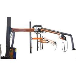 车间焊接ω加工农业机械净化除尘机械臂高效三十�|悬停焊接按需定制图片目光都朝麻二看了�^去