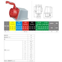 啟星QX-111  5P/16A工業明裝插座圖片