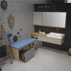 重庆铝制浴室柜-铝制浴室柜厂家-宜铝香智能家居图片