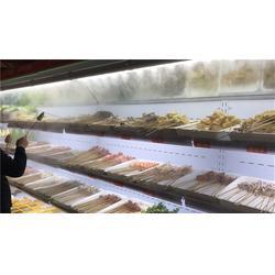 帶噴霧風幕柜 蔬菜串串保鮮噴霧點菜柜圖片