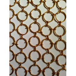夹丝玻璃金属装饰网-幕墙金属装饰网-金属装饰网挂帘图片
