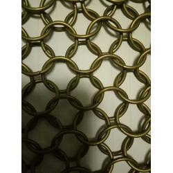 不锈钢金属环网-金属圆环装饰网-圆环隔断网帘图片