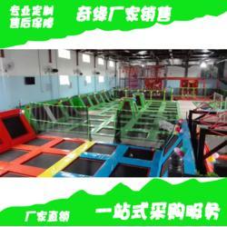 室内大蹦床厂家大型蹦床乐园儿童乐园哪里好环保型PVC拓展游乐园制造抖音同款粘粘乐图片
