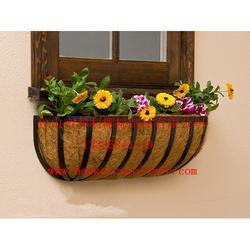 五金椰棕吊篮,半壁椰棕花篮图片