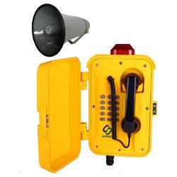 IP广播对讲电话,防水扩音广播电话,隧道施工防水电话图片