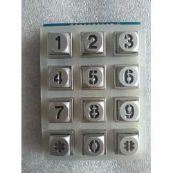 金属透光按键供应,室外门禁按键,12位LED发光键盘图片