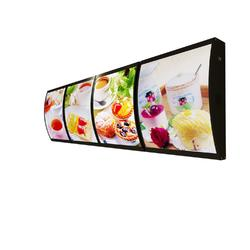 单面弧形餐饮灯箱特价图片