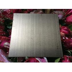 304不锈钢镀铜板定制 青古铜拉丝花纹装饰板 仿古铜做旧不锈钢板图片