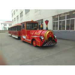 红色全金属42座电动锂电新能源景区 游览观光火车图片