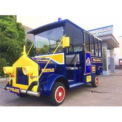 儿童游乐园卡通巡逻车电动全金属彩色观光车图片