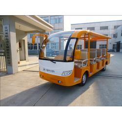 出口韩国11座带货箱观光车图片
