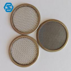 厂家定做包边编织过滤圆片包边带帽不锈钢网片 方形圆形虑片图片