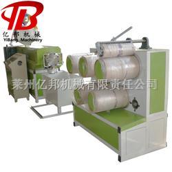 SJL亿邦65型亚麻丝拉丝机,南韩麻拉丝机,PPPE塑料扁丝挤出拔丝机组报价图片