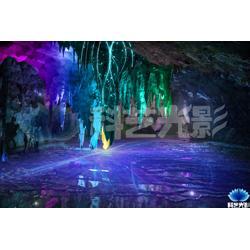 溶洞燈光秀圖片