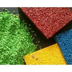 球场橡胶颗粒-绿健塑胶-甘肃橡胶颗粒图片