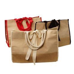 粗黄麻防水过胶覆膜黄麻箱包手提袋定制礼品袋手提工具包订做图片