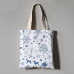 圣诞帆布棉布麻布节庆活动礼品广告环保毡布手提袋订做图片