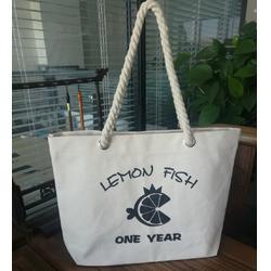 麻花绳棉绳提手厚帆布礼品广告环保手提袋订做厂家图片