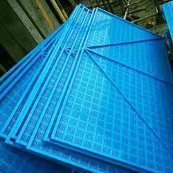 攀附式腳手架 高層建筑圍網噴塑沖孔板藍色沖孔網圖片
