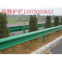 双波护栏绿色喷塑护栏图片