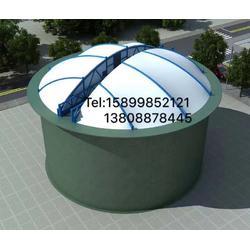 初沉池密封加盖膜结构 污水调节池加盖图片