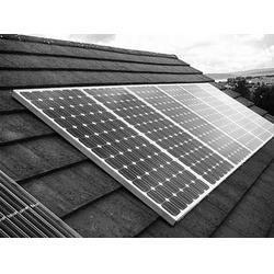 屋顶太阳能电池板、太阳能发电系统图片