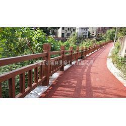 混凝土仿木栏杆-国尔园林景观-芜湖混凝土仿木栏杆图片