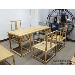 仿古多宝阁古董架家具定制  仿古写字台家具定制图片