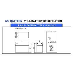 GS杰士蓄电池PXL12072 12V7.2/AH现货直销图片