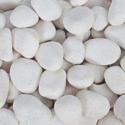 白色鹅卵石,白色景观石,白色园艺石,白云石矿直接加工而成,白度好,铺路建筑装饰园林盆景等用图片