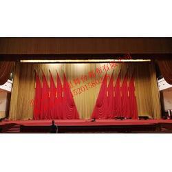 顺泰万里stwlA供应报告厅幕布   多功能厅舞台会议红旗  幕布图片
