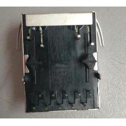 兴伸展电子6P2C RJ11电话插座/1*3PORT镀金FU/RJ45连接器网络插座图片