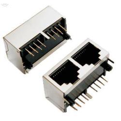 兴伸展电子8P8C有金属壳子的网络座子图片