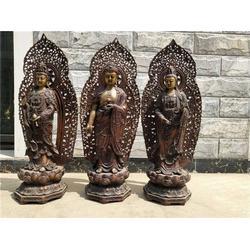 鑄銅雕西方三圣-銅雕西方三圣-鼎泰雕塑(查看)圖片